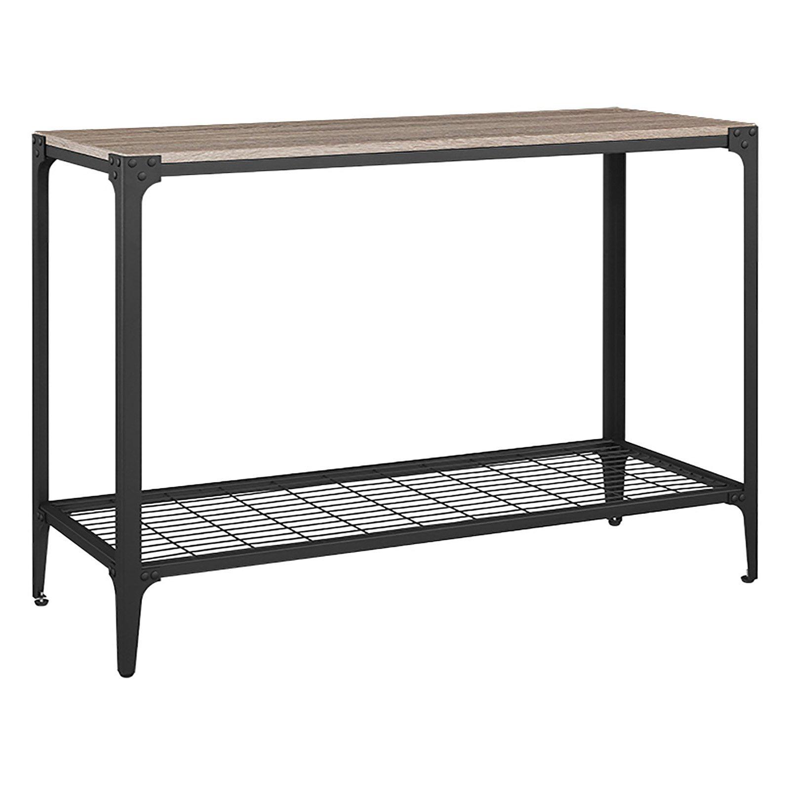Walker Edison Angle Rustic Sofa Table