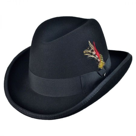 f48c8ed2 Jaxon Hats - Wool Felt Homburg Hat - XL - Black - Walmart.com