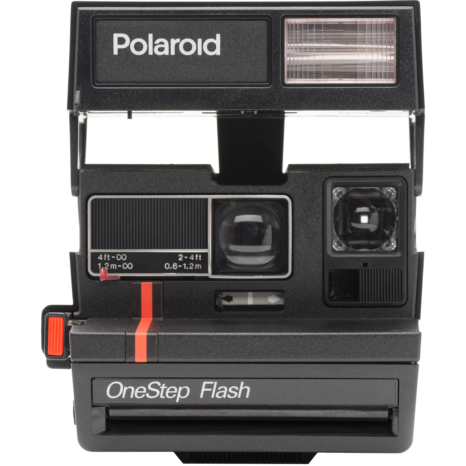 Polaroid 600 Square Instant Film Camera (Red Stripe) Refurbished by Impossible