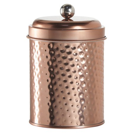 Global Amici Mauritius Round Metal Hammered Canister - Set of 4