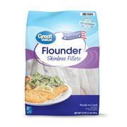 Great Value Frozen Flounder Fillets,2lb