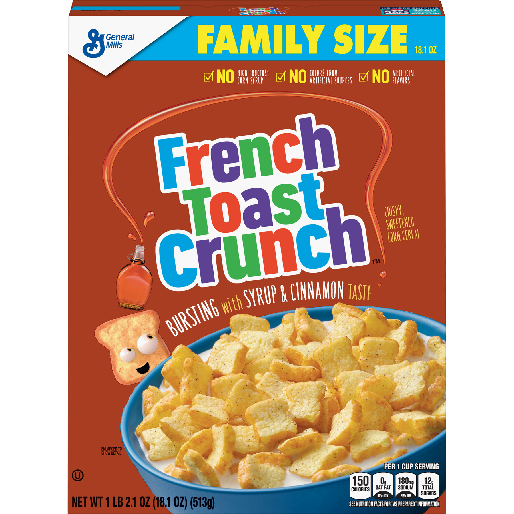French Toast Crunch Cereal, 18.1 Oz