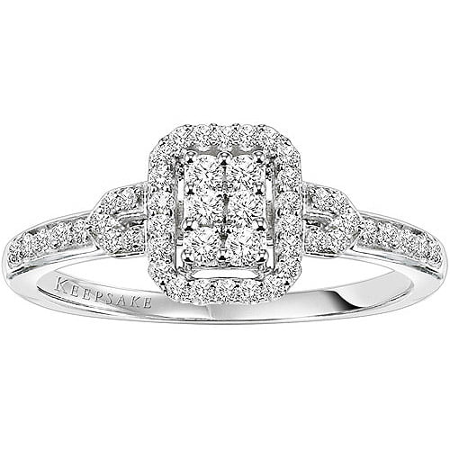 Keepsake Attraction 14 Carat TW Certified Diamond 10kt White Gold