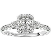 Attraction 1/4 Carat T.W. Certified Diamond 10kt White Gold Engagement Ring