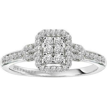 Keepsake attraction 1 4 carat tw certified diamond 10kt for Walmart wedding rings