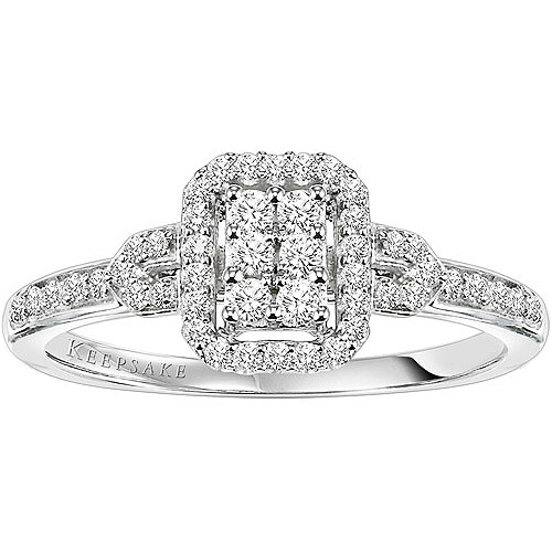 Keepsake Attraction 1/4 Carat T.W. Certified Diamond 10kt White Gold Engagement Ring