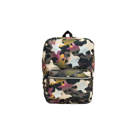 Camouflage 16inch backpack with stars - Camo Bookbag