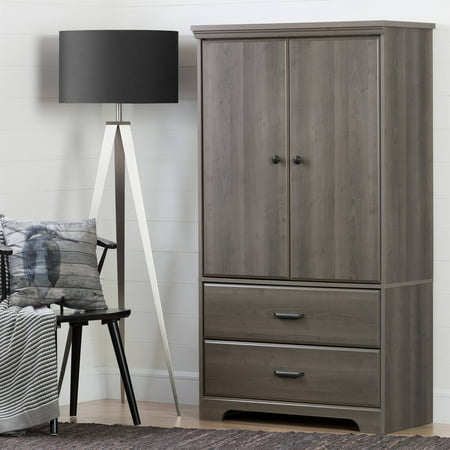South Shore Versa 2-Door Armoire with Drawers, Multiple Finishes ()