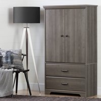 South Shore Versa 2-Door Armoire with Drawers, Multiple Finishes