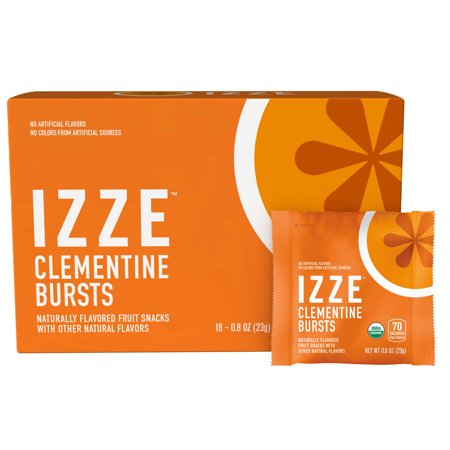 IZZE Bursts Organic Fruit Snacks, Clementine, 18 ct, 0.8 oz