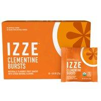 IZZE Bursts Organic Fruit Snacks, Clementine, 0.8 oz Pouches, 18 Count