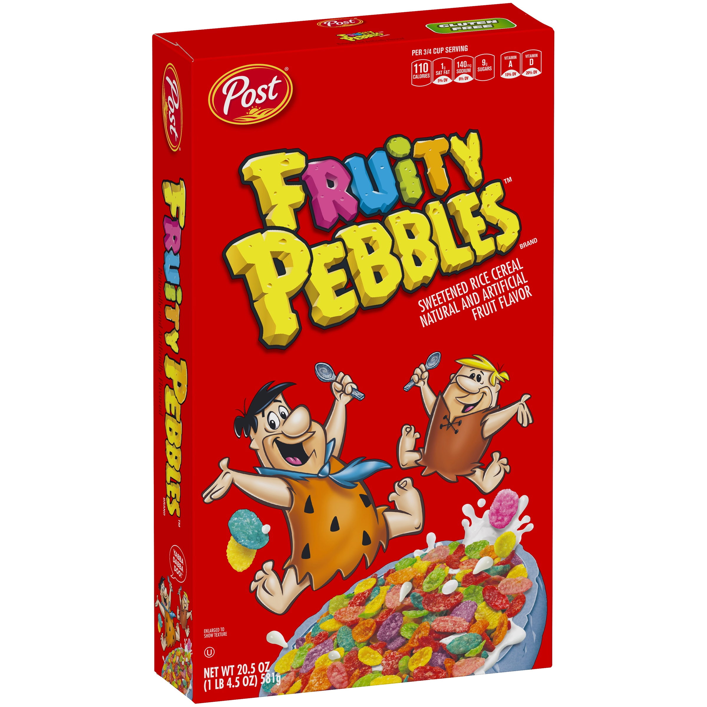 Post Fruity Pebbles Cereal 20.5 Oz. Box