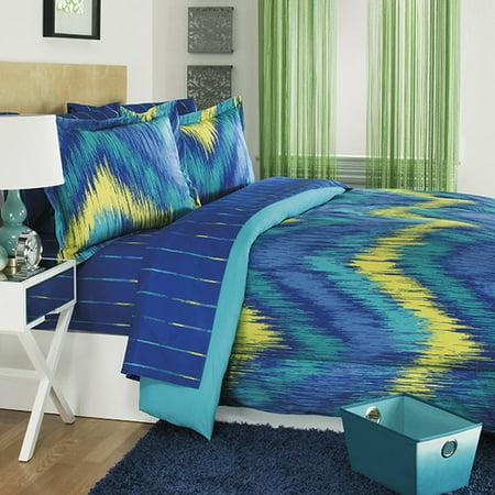 Josh   Posh Kidz Chevron Tie Dye 3 Piece Comforter Set