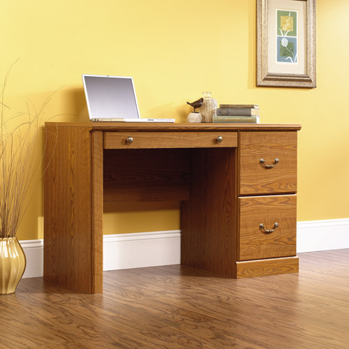 Sauder Orchard Hills Computer Desk Carolina Oak Finish Walmartcom
