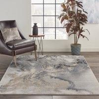Nourison Maxell Abstract Grey Area Rug
