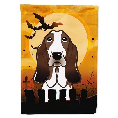 Halloween Basset Hound Garden Flag - Basset Hound Costumes Halloween