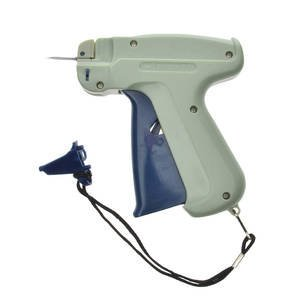 Deluxe Clothing Tag Gun, Standard Needle, Pistol grip for maximum comfort By Retail Resource Ship from US This clothing tag gun protects employees by keeping needles covered with the needle cap. The fastener has a lanyard so you never lose the cap. This clothing tag gun is white plastic with a blue handle. The fastener works great on all types of garments. This clothing tag gun has one needle included. BTI trading was established in year of 2012.We are allocated at US WA.The transportation to our store is very convenient.we are selling only high quality products we also selling our products world wide .At BTI we sure you can find all the product that you want.
