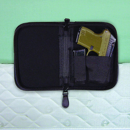 PS Products, Holster Mate Pistol Case, Fits Small Frame Handguns, Black