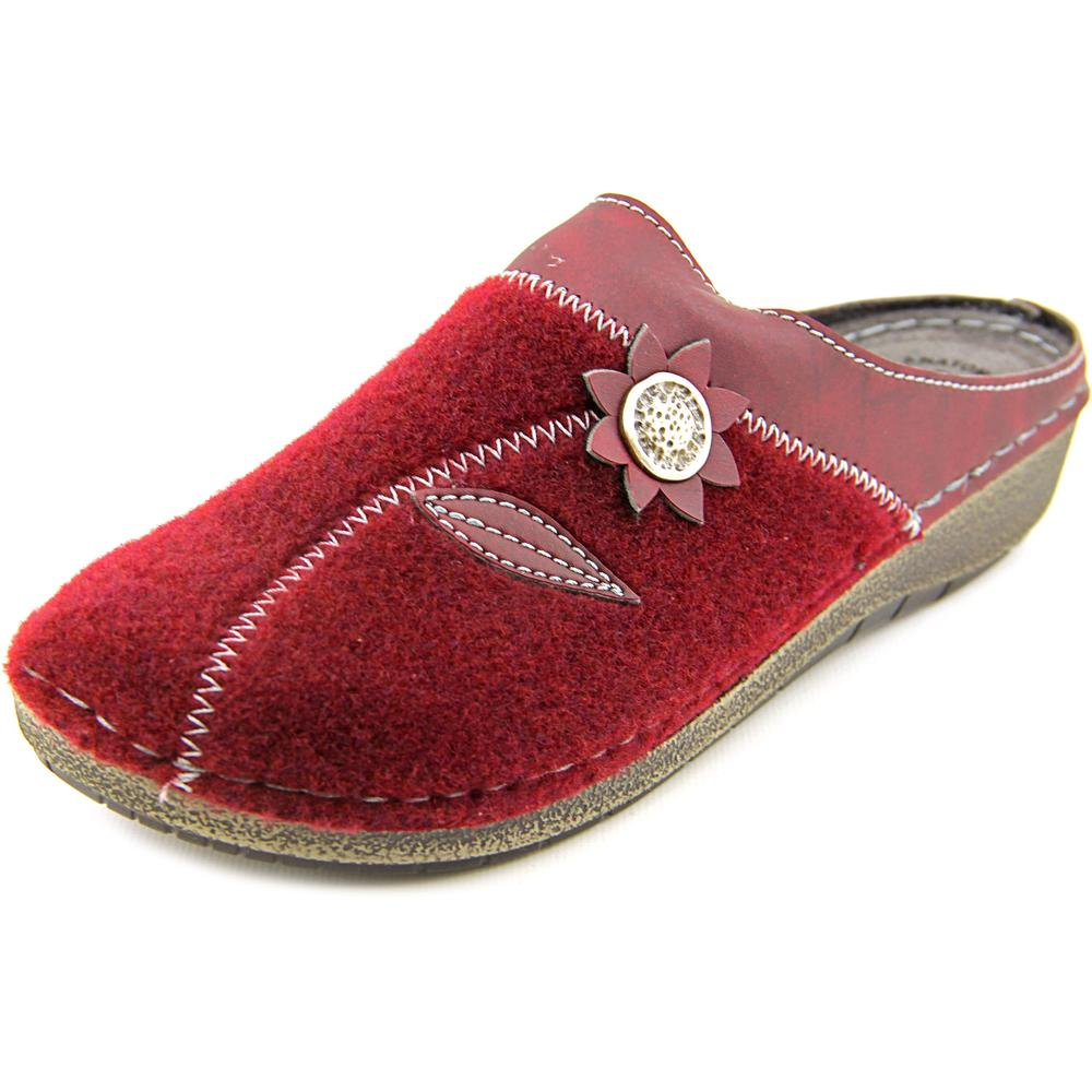 Flexus by Spring Step Aries Round Toe Canvas Mules by Flexus by Spring Step