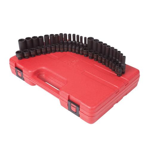 Sunex Tools 1848 48-Piece 1/4 in. Drive SAE/Metric Impact Socket Set