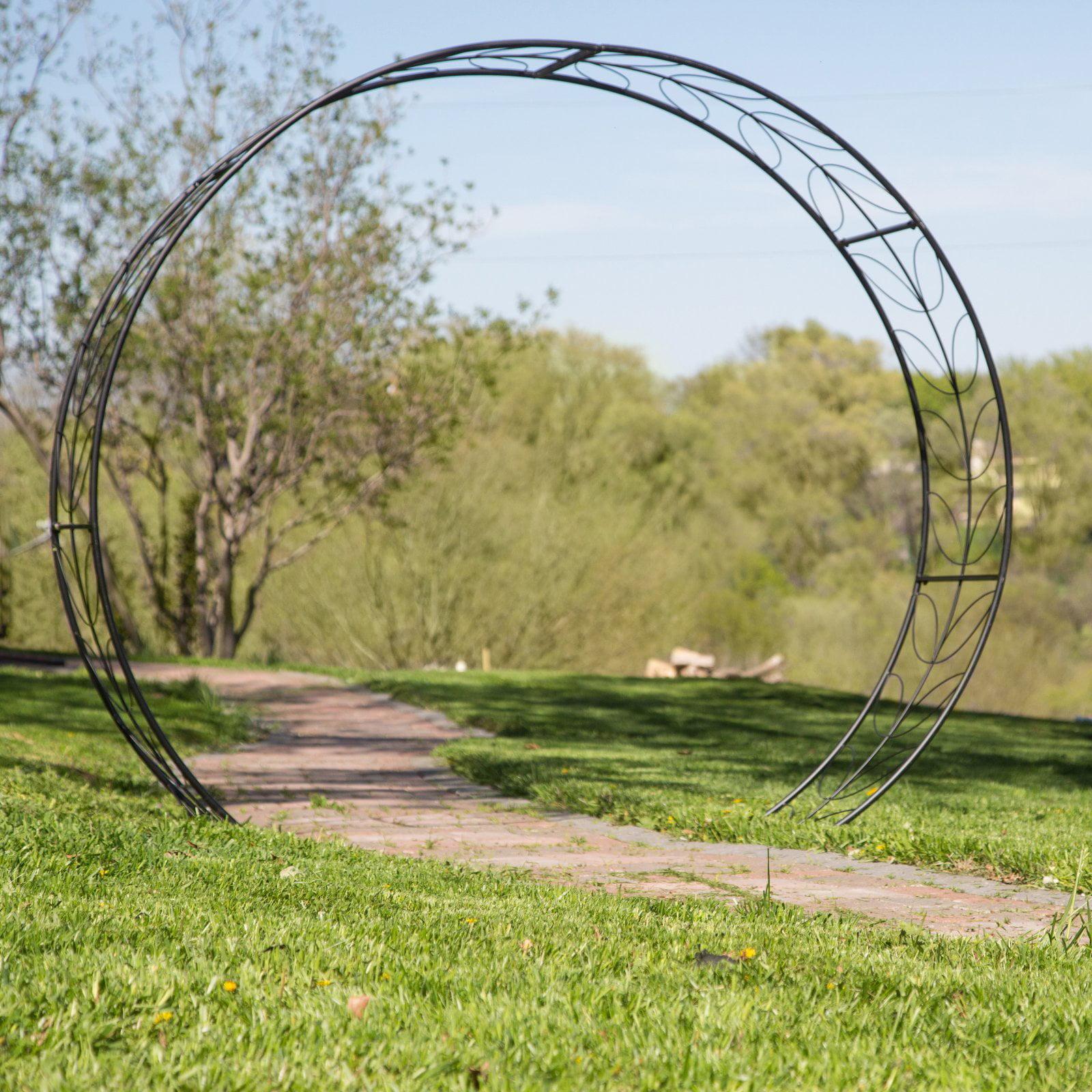 Belham Living Metal Tunnel Garden Arbor by