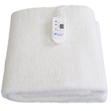 Earthlite Fleece Massage Table Warmer   Fleece Pad  Dual Heat Settings  Elastic Corner Straps  13Ft Power Cord