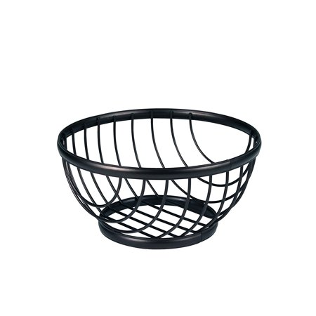 Ashley Fruit Bowl  Small  Black  Open Design Helps Fruits And Vegetables To Ripen Evenly By Spectrum Diversified