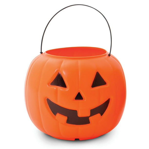 Way To Celebrate Halloween Pumpkin Treat Pail, Orange