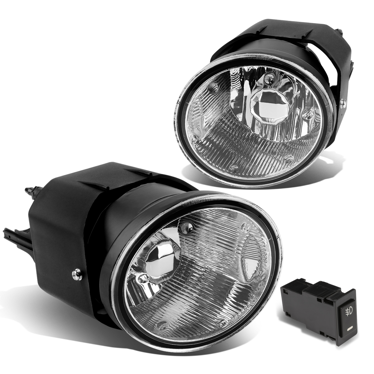 For 00-04 Nissan Maxima/Sentra/Frontier/Xterra Pair Bumper Driving Fog Light/Lamp+Switch Clear Lens 01 02 03