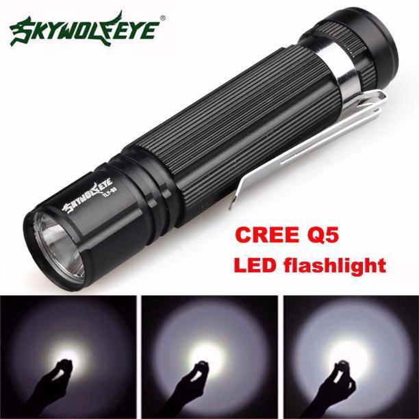 Tuscom 7W Q5 LED 1200lm Mini Flashlight Torch Light 14500/AA Lamp Waterproof