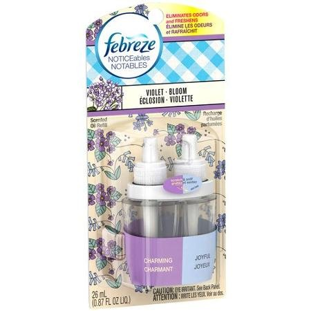 Febreze NOTICEables Violet Bloom Scented Oil Refill Air ...
