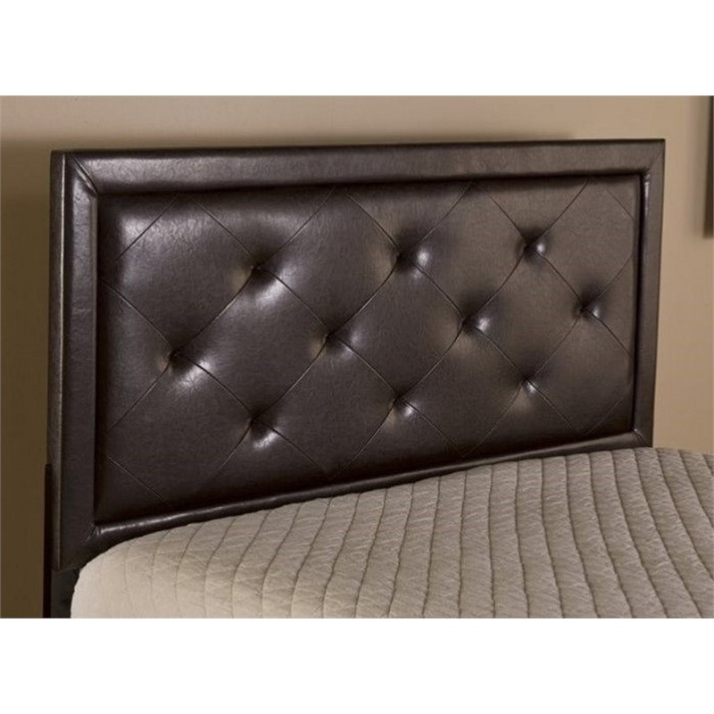 Atlin Designs Tufted King Panel Headboard with Rails in Brown