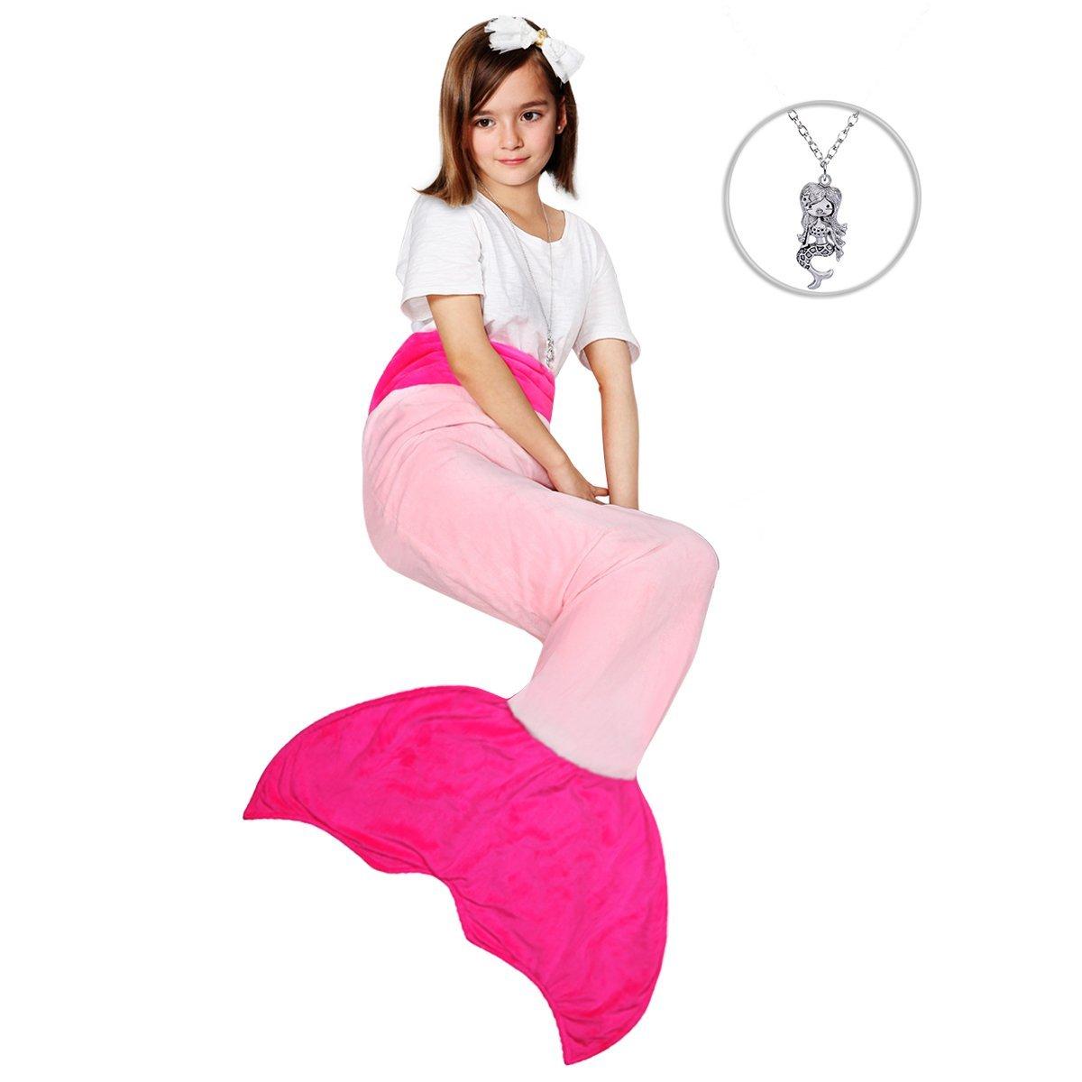 Maidream Mermaid Tail Blanket Upgraded Double-layered Sof...