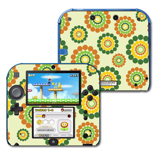 Mightyskins Protective Vinyl Skin Decal Cover for Nintendo 2DS wrap sticker skins Flower Power