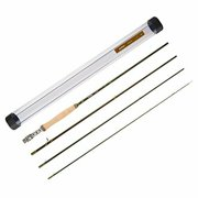 "Accurate 4-Piece Slow Action Graphite Fly Fishing Rod w/ Transport Tube (84"")"