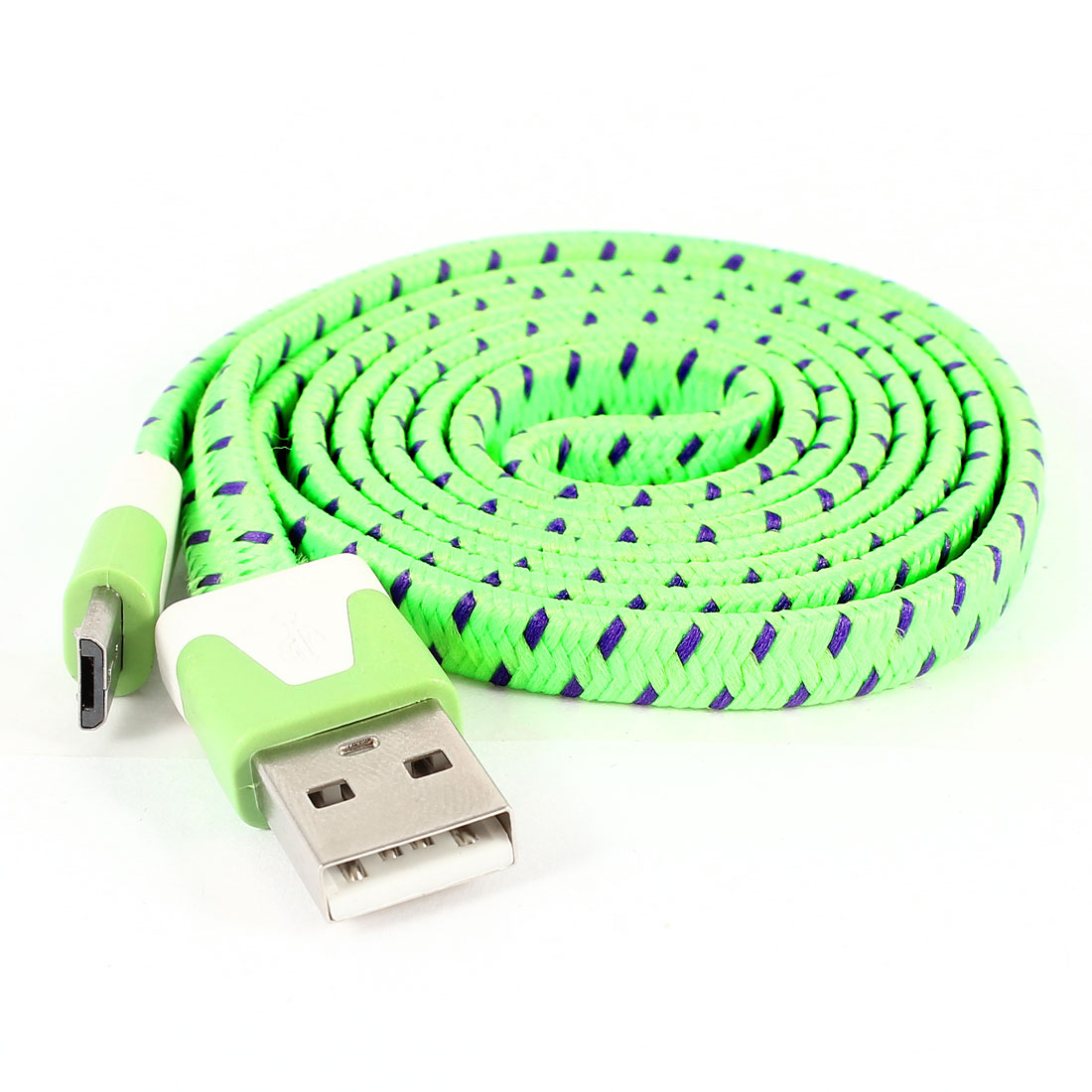 Green USB 2.0 Type A Male to Micro USB Male Data Transfer Cable 1M 3ft