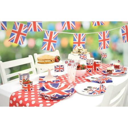 8 Union Jack Paper Party Plates (23cm){Amscan - Union Jack Party Decorations