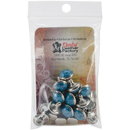 Rivets, 10mm, 10-Pack, Synthetic (Turquoise Rivets)