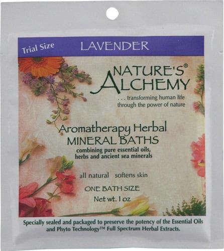 Mineral Bath-Lavender Nature's Alchemy 1 oz Salt