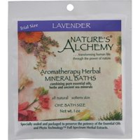 Mineral Bath-Lavender Nature's Alchemy 1 oz Salt