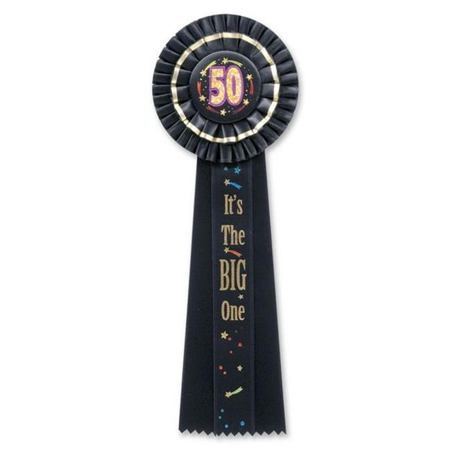 Beistle RD30 50 It is The Big One Deluxe Rosette - Pack of 3