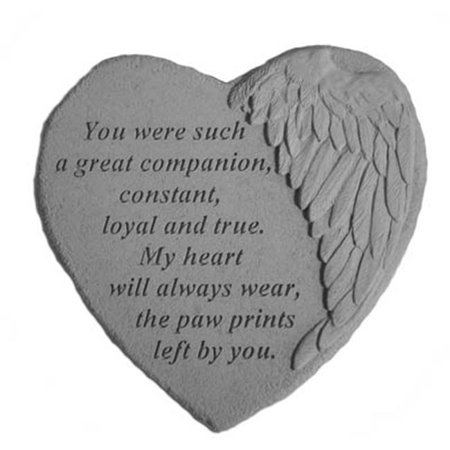 Kay Berry 08913 Winged Heart Memorial Stone - You Were Such. . .