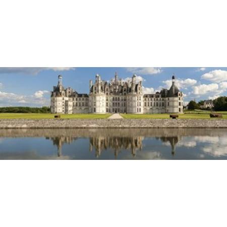 Reflection of a castle in a river Chateau Royal De Chambord Loire-Et-Cher Loire Valley Loire River Region Centre France Poster (Valley River Center)