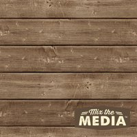 "Jillibean Soup Mix The Media Wooden Plank-8""X8"" Dark"