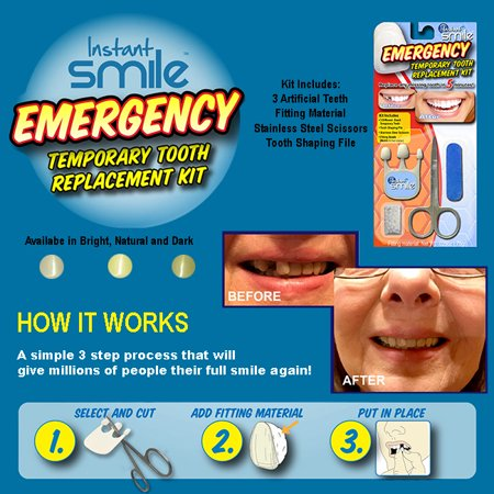 Instant Smile Emergency Temporary Tooth Replacement Kit