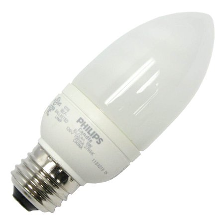 Philips 202804 - EL/A CAN 9W Torpedo Screw Base Compact Fluorescent Light Bulb
