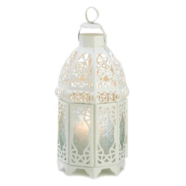 Zingz & Thingz 57070771 White Lattice Candle Lantern
