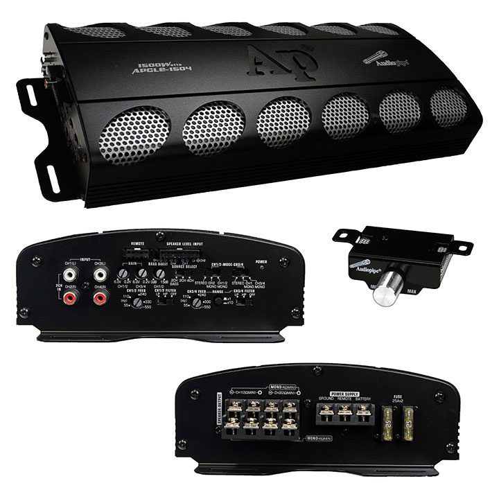 AMPLIFIER AUDIOPIPE 1500 WATT  4 CHANNEL