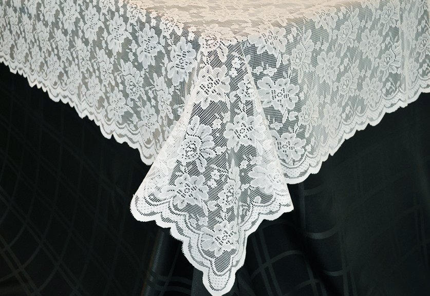225 & Wedding Linens Inc. 54 in x 108 in Lace Table Overlays Lace Tablecloths Rectangle Rectangular Lace Linens Lace Table Toppers for Wedding Decors ...