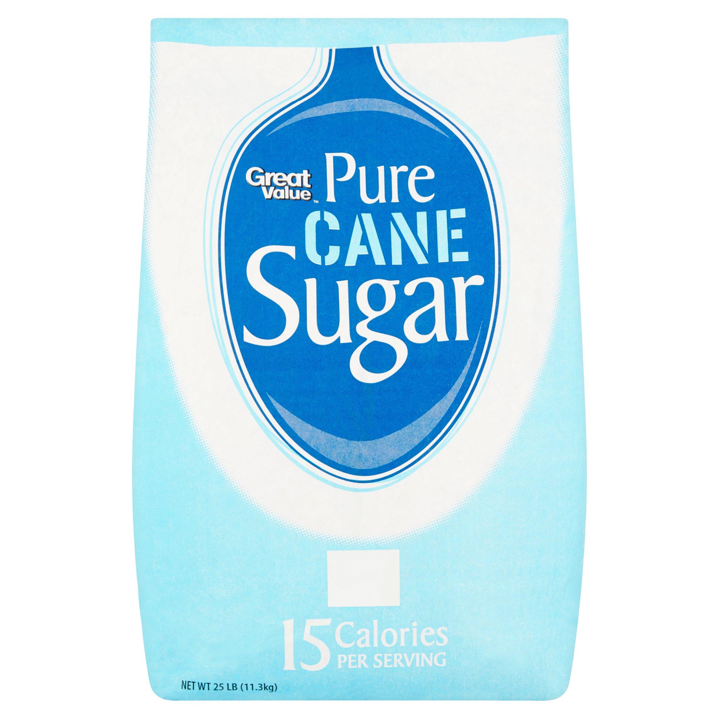 Great Value Pure Cane Sugar, 25 lb